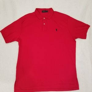 Polo Ralph Lauren Mens Polo Shirt Red Sz XL NWOT